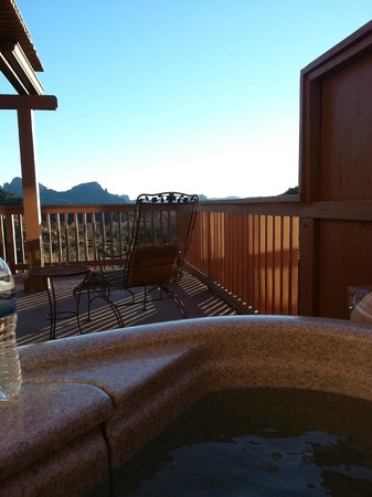 Sedona Views Bed and Breakfast: View from the hot tub on the deck
