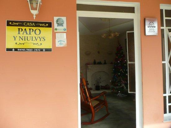 Casa Papo y Niulvys: Entrada