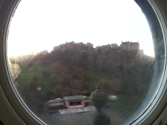 Royal Overseas League: view from bedroom window looking towards castle