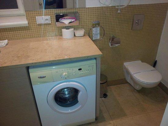 Residence Karolina - Prague City Apartments: Washer in Master bathroom
