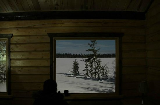 Sundog Retreat : the view from inside the viewing hut