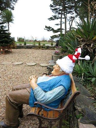 Talland Bay Hotel: The garden at Christmas