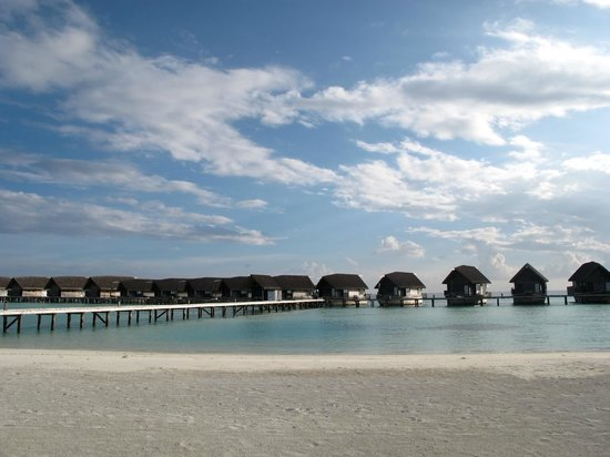 Cocoa Island by COMO: View of the villas from the beach