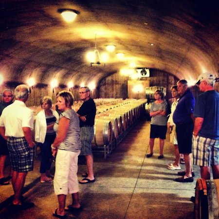 Wine Canyon Tours: Wine Cave Tour!  Happy Canyon