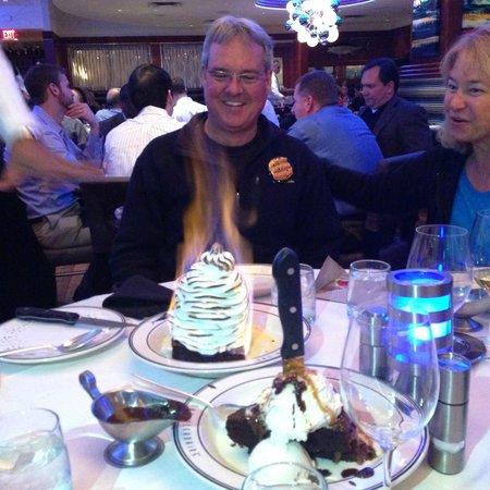 Oceanaire Seafood Room - DC : flaming alaska