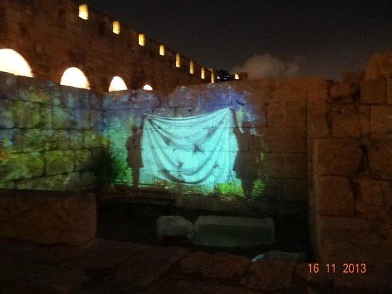 Tower of David Museum: Show de luzes na Cidadela