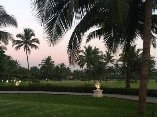 Taj Exotica Goa: Taj grounds in the evening
