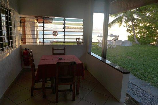 Beach Villa Seychelles : Aussicht vom Zimmer