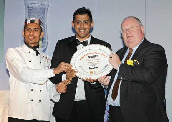 Royal Tandoori Indian Restaurant & Takeaway: Winner of the Curry Life Chef Awards 2013 - With Eric Pickles MP
