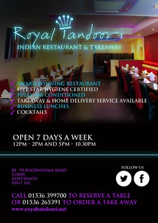 Royal Tandoori Indian Restaurant & Takeaway: Leaflet