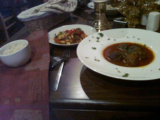 Arabesque: Kofta Dawood Basha, Batata Harra, Rice