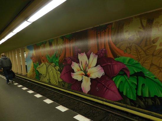 Spandauer Zitadelle: murales della stazione metropolitana di Spandau