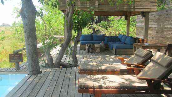 Wilderness Safaris Vumbura Plains Camp: the room balcony and private pool area