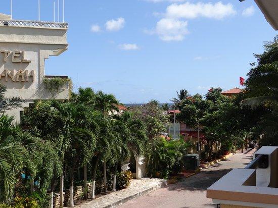 Hotel Vista Caribe: Vue depuis la chambre