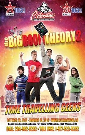 Celebrations Dinner Theatre: Big Boom Theory 2 - Time Travelling Geeks (Show Poster)