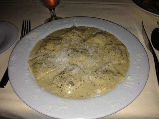 Pescecane Ristorante: Ravioli with black truffle (I think - this was my son's dish)