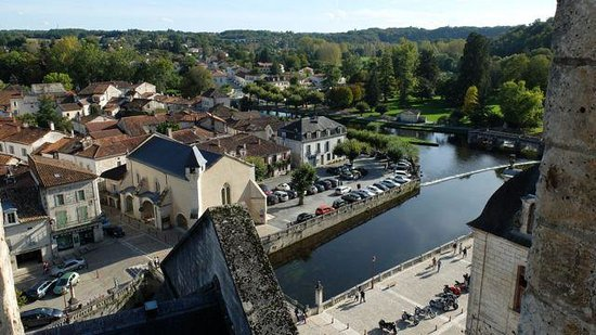 Le Moulin de l'Abbaye : View of Brantome from the 12th century Abbey bell tower