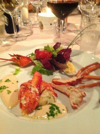 Chez Madeleine: Lobster appetizer