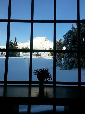 Timberline Lodge: View from inside the Lodge common area!