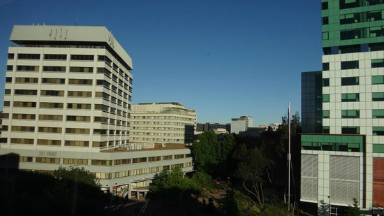 Crowne Plaza Hotel Canberra: View to boxy buildings
