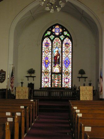 Abbeville, SC: Beautiful window at Trinity Episcopal