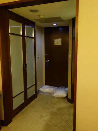Brother Hotel Taipei: 部屋から見た入口