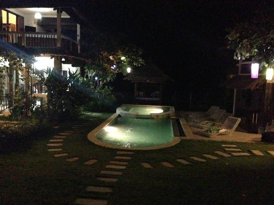 Hill Dance Bali, American Hotel: Night view of the pool