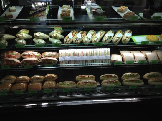 Five Rivers Cafe Cold display cabinet stocked daily with freshly made rolls wraps u0026 & Cold display cabinet stocked daily with freshly made rolls wraps ...