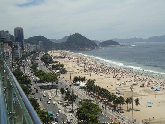 Arena Copacabana Hotel: Vista da cobertura do hotel