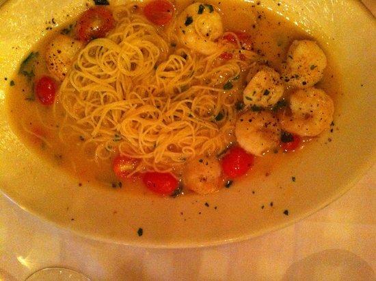 Maggiano's Little Italy: Schrimp (plat déjà entamé avant la photo, désolé...)