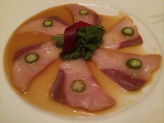 Nobu: yellowtail sashimi with jalapeno