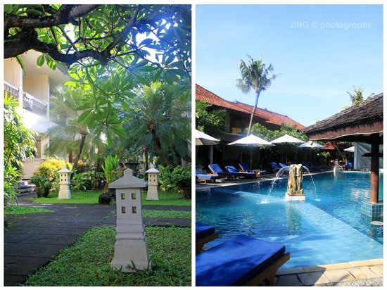 Legian Paradiso Hotel: Pool side and surrounding
