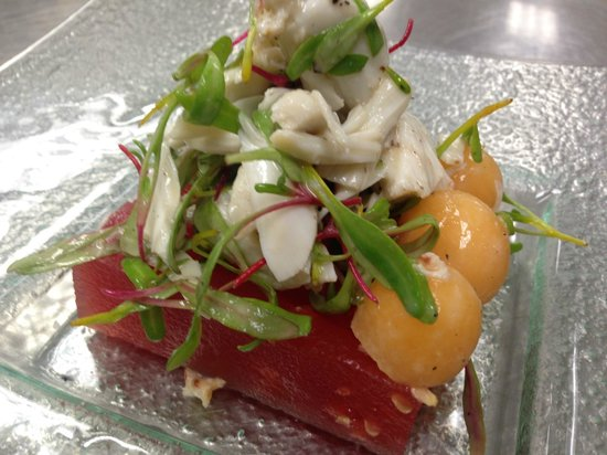 Beach House: Crab and Watermelon salad