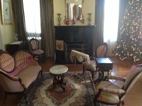 Wonderful Greenwood Plantation: Ladies Parlor Complete With Original Furniture.  (Ribbons To Aide In The