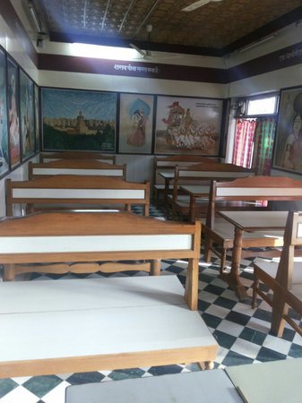 Dinning area at Riddhi Siddhi Restaurant. There are 80 seats in two dinning halls.