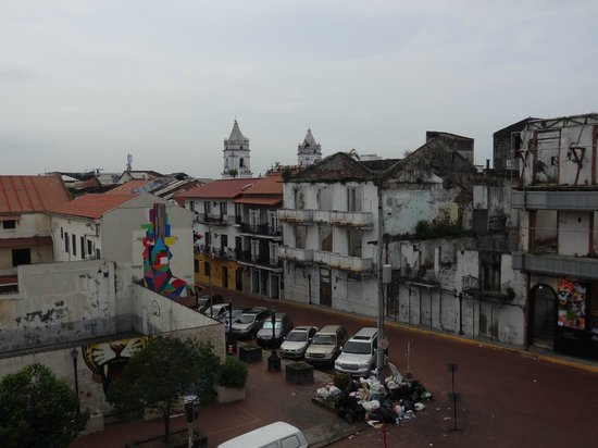 Casa Antigua: View from balcony looking toward Casco Viejo