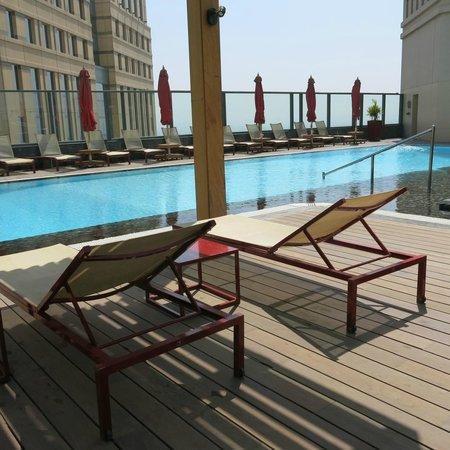 Fairmont Cairo, Nile City : amazing rooftop pool