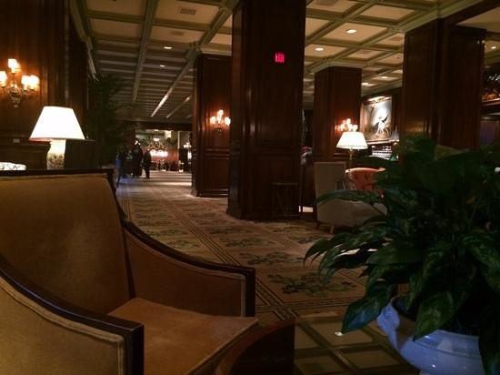 The Adolphus : Lobby Seating and Bar Area