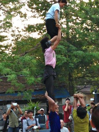 Circus at Made in Cambodia Market