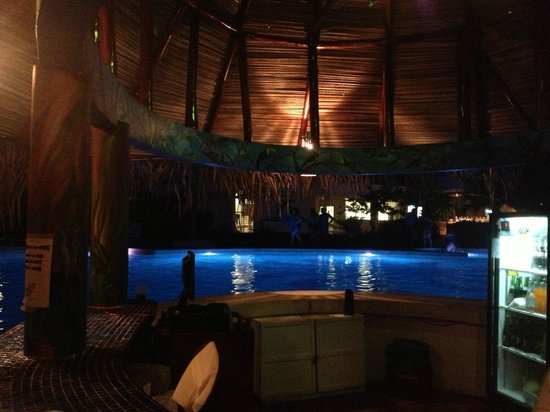 Hotel Villas Playa Samara: Pool bar at night