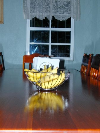 KenMar's Bed and Breakfast: Bananas always out for a snack!