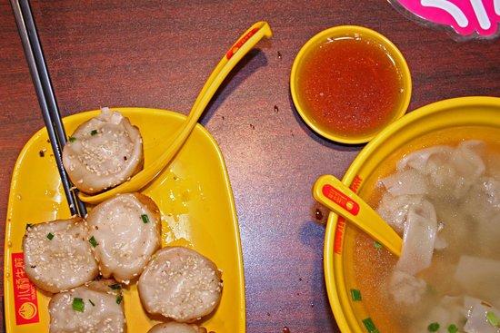 Yang's Fried Dumplings  (HuangHe Road): Dumplings and Pork Won Ton Soup