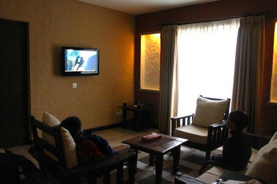 Temple Tree Resort & Spa: Spacious Living Room