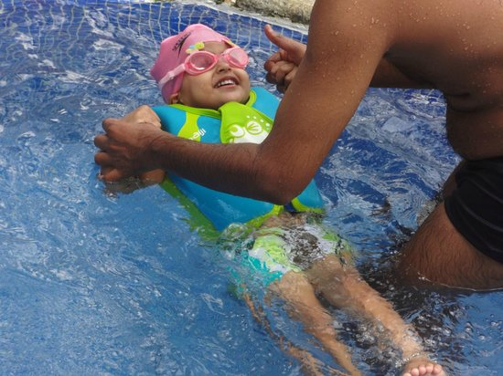 Punnamada Resort: My Little Angel at Swimming Pool.