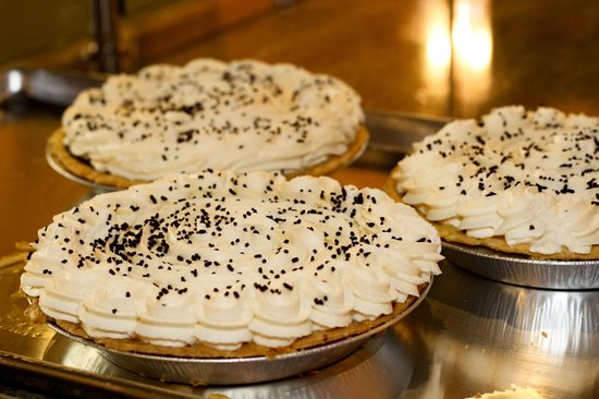 Polly's Pies : Chocolate Cream Pies just made by our Bakers!