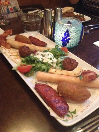 The Olive Branch: Hot mixed mezze starter