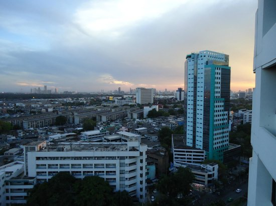 Boss Tower: Sun is starting to Set in the west, from 19th floor Balcony