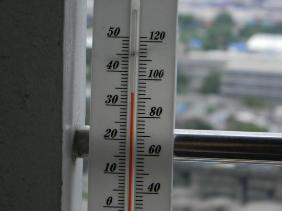 Boss Tower : Hot day But very Humid. lol