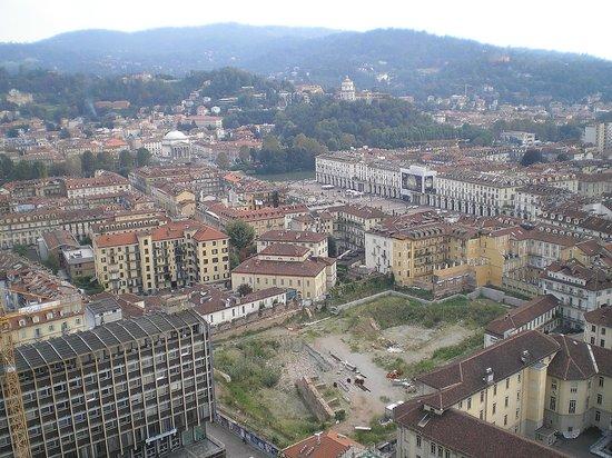 Mole Antonelliana: Blick von der Mole auf die Stadt in Richtung Po