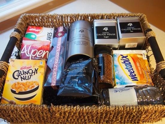 Cheval Calico House : Welcome Hamper.  There was also some food in the fridge.